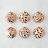 Williams-Sonoma Williams Sonoma Mini Copper Molds, Set of 6