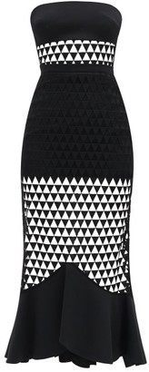 David Koma Strapless Triangle-tulle And Cady Dress - Womens - Black