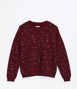LOFT Lou & Grey Shooting Star Terry Sweatshirt