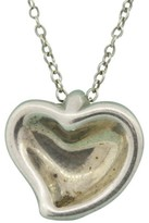 Tiffany & Co. Peretti Sterling Silver Carved Heart Faded Pendant Necklace