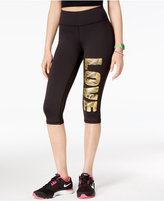 Material Girl Active Juniors' Love Graphic Cropped Leggings, Only at Macy's