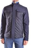Michael Kors Men's Blue Wool Outerwear Jacket.