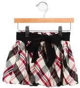 MonnaLisa Girls' Plaid Skirt
