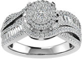 FINE JEWELRY Cherished Hearts Womens 1 CT. T.W. White Diamond 10K Gold Bridal Set