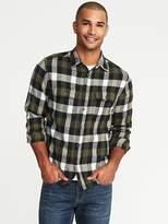 Old Navy Regular-Fit Built-In Flex Flannel Shirt for Men