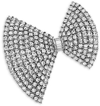 Kenneth Jay Lane Crystal Bow Tie Pin