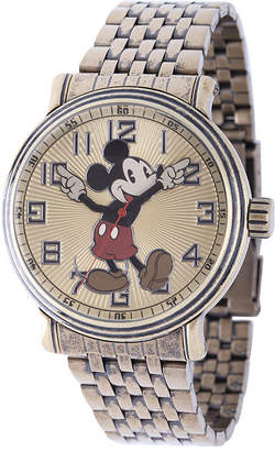 Character Disney Mens Mickey Mouse Stainless Steel Bracelet Watch
