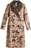 Prada Comic-print double-breasted cotton coat