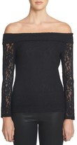 1 STATE 1.State Off the Shoulder Lace Top