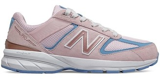 New Balance Kid's 990v5 Suede Mesh Sneakers
