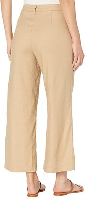 NYDJ High-Waisted Wide Leg Ankle Pants in Stretch Linen Twill