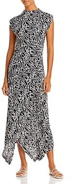 Rebecca Taylor Zebra Lily Printed Dress