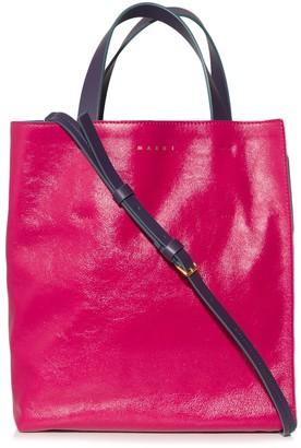 Marni Museo Shopping Bag in Fuschia/Grey