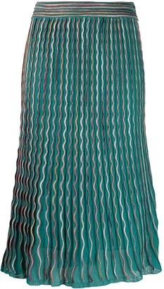 M Missoni High Waisted Zig-Zag Skirt