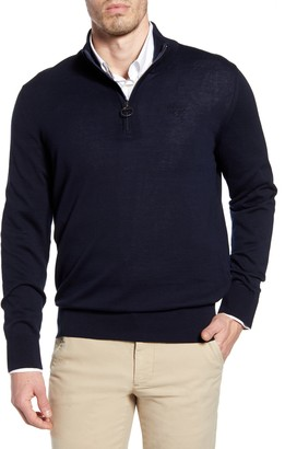 Barbour Tain Quarter Zip Sweater