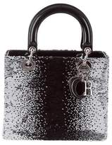 Christian Dior Sequined Medium Lady Bag
