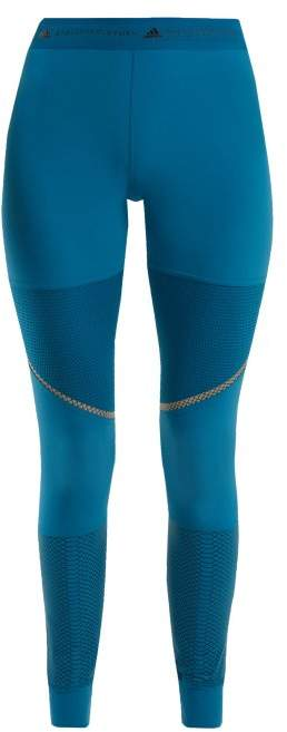 adidas by Stella McCartney Run Az Reflective Leggings - Womens - Blue