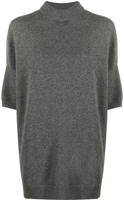 Givenchy Slit Detail Short-Sleeve Jumper
