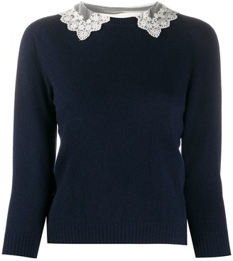 Philosophy di Lorenzo Serafini Lace Collar Jumper