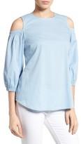 Bobeau Women's Cold Shoulder Blouse
