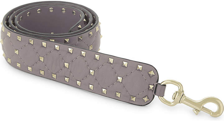 Valentino Rockstud quilted nappa leather bag strap