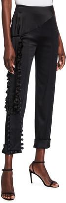 Hellessy Roman Slim Draped Trousers