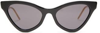 Gucci Cat-eye Acetate Sunglasses - Womens - Black