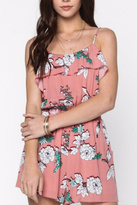 Everly Floral Ruffle Romper