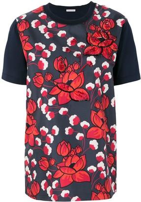 Moncler floral applique T-shirt