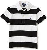 Ralph Lauren Little Boys 2T-7 Wide-Stripe Short-Sleeve Polo Shirt