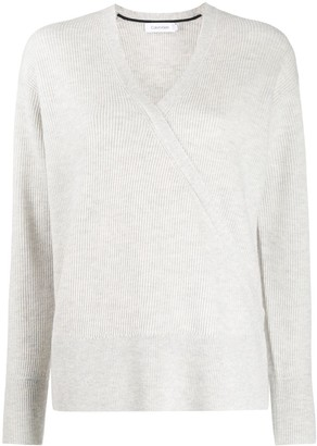 Calvin Klein Wrap Front Ribbed-Knit Jumper