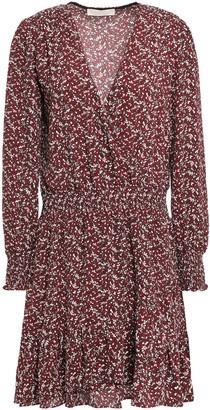MICHAEL Michael Kors Shirred Printed Crepe Mini Dress