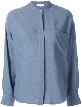 Vince Band Collar Button Down Shirt
