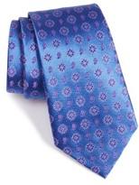 Armani Collezioni Men's Flower Medallion Silk Blend Tie