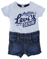 Levi's Stripe Tee and Shorts All In One