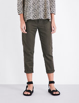 The Great The Slouchy mid-rise cropped woven trousers