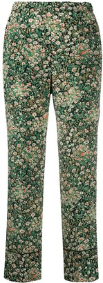 No.21 Floral Print Trousers