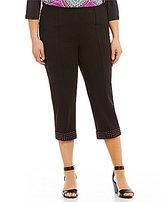 Peter Nygard Plus Slims Luxe Cuffed Capri Pants