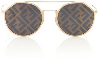 Fendi Eyeline logo sunglasses