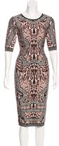 Herve Leger Zola Jacquard Dress