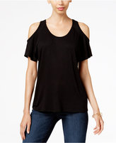 KUT from the Kloth Low-Back Cold-Shoulder Top