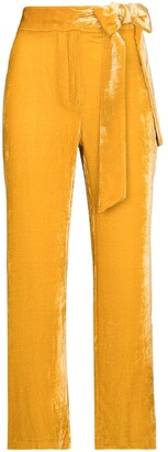 USISI SISTER Tied Waist Cropped Trousers