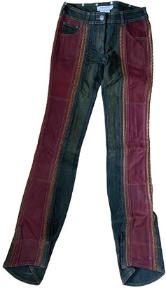 Christian Dior Burgundy Cotton - elasthane Jeans for Women Vintage