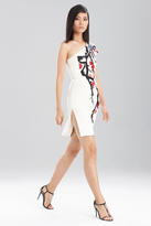 Josie Natori Duchess Satin One Shoulder Dress