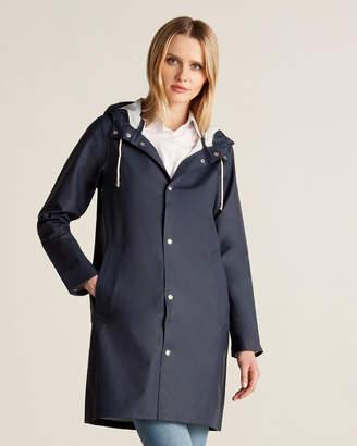 Stutterheim Navy Stockholm Long Raincoat