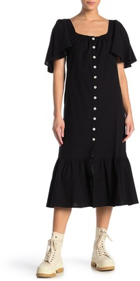 Free People Sweet Sunday Button Midi Dress