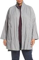 Eileen Fisher Textured Organic Cotton Blend Kimono (Plus Size)