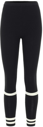 Adam Selman Sport Ribbed-knit leggings