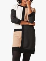 Phase Eight Casle Colour Block Dress, Camel/Multi