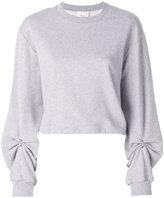 3.1 Phillip Lim Ruched-sleeve sweatshirt